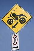 Quad sign — Stok fotoğraf