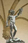 Perseus sculpture and Medusa — Stock Photo