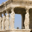 Female statues Caryatids — Stock Photo