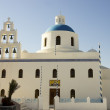 Blue dome orthodox church — Foto Stock