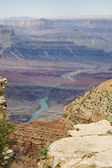 Grand canyon en de colorado rivier — Stockfoto