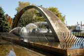 Confederation arch fountain — Stock Photo