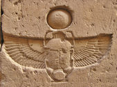 Carved scarab — Stock Photo