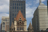 Boston church bell tower — Stock Photo