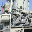 Battleship guns USS Cassin — Stock Photo