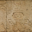 Mayan glyphs on a stone stele — Stock Photo