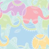 Elephant seamless pattern. — Stock Vector