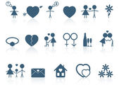 Set of love icons. Vector illustration. — Stock Vector