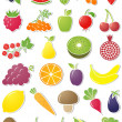 Food icons. Vector illustration. - Stock Vector
