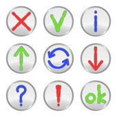 Buttons. — Stock Vector
