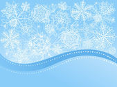 Christmas background with snowflakes. Vector illustration. — Stock Vector