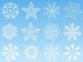 Snowflake set. Vector illustration. — Stock Vector