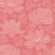 Flower seamless pattern. Vector illustration. — Stock Vector