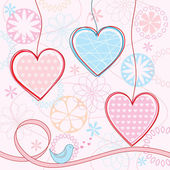 Valentine's background. Vector illustration. — Stockvector