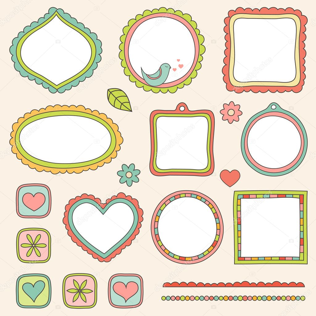 Set of frames. Vector illustration. — Stock Vector #4596983