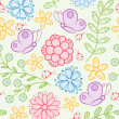 Floral seamless pattern. Vector illustration. — Stock Vector #4937696