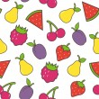Fruit seamless background. Vector illustration. — Stock Vector
