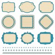 Set of frames. Vector illustration. — Stock Vector #4942264
