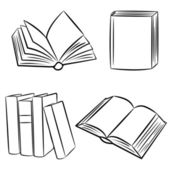 Books. Vector illustration. — Stock Vector