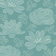 Flower seamless pattern. Vector illustration. - Stock Vector