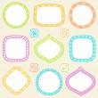 Set of frames. Vector illustration. — Stock Vector #5011090