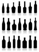 Set of bottles. — Stock Vector