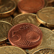 Euro cent coins — Stock Photo #4434336