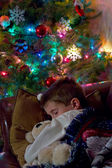 Child waiting for Santa Claus — Stock Photo