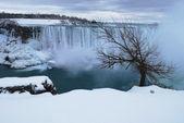 Niagara Falls - Horseshoe at winter time — Stock Photo