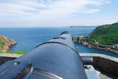 Signal Hill cannon in St. John's — Stock Photo
