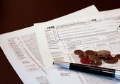 Tax Form 1040 Financial Document — Stock Photo