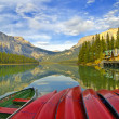 Stock Photo: Red Canoes