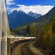 Stock Photo: Rockies Train Journey