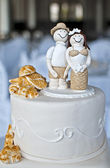 Beach Wedding Cake — Stock Photo