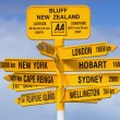 Stock Photo: Bluff Signpost