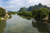 Valle del fiume yulong — Foto Stock