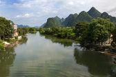 Vale do rio yulong — Foto Stock