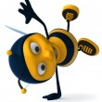 Cartoon bee — Stock Photo #4362595
