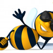 Cartoon bee - Foto Stock