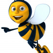 Cartoon bee - Stock Photo