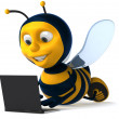 Cartoon bee — Stock Photo #4362755