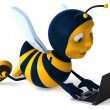 Cartoon bee — Stockfoto #4362756