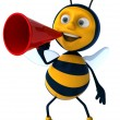 Cartoon bee — Stockfoto #4362764