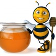 Cartoon bee — Stockfoto #4362780