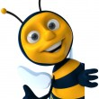 Cartoon bee — Stockfoto