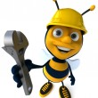 Cartoon bee — Stockfoto #4362911