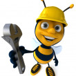 Stock Photo: Cartoon bee