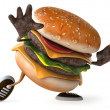 Hamburger 3d animated — Stock Photo