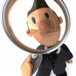 business man 3d illustration — Stock Photo