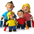 Family 3d illustration — Stock Photo #4364360